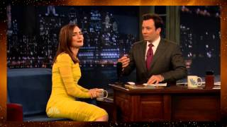 Lily Collins on Late Night with Jimmy Fallon 2013-08-05 (HD)