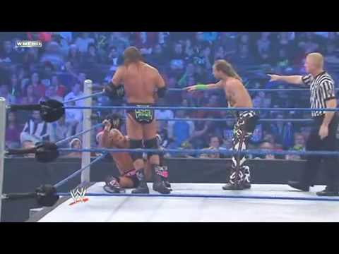 WWE Smackdown 12/25/09 DX vs. Hart Dynasty Unified Tag Team Championships Part 1/2 (HQ)