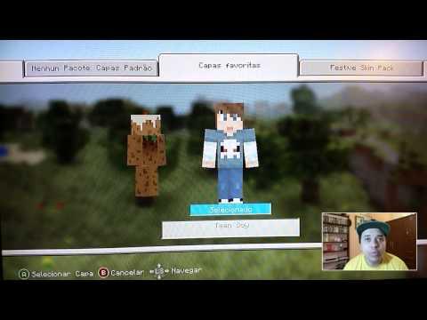 Minecraft - como mudar skin no minecraft xbox360 - Aprendendo a jogar ☜═㋡
