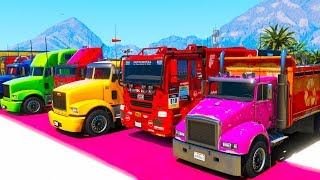 Stopping The Train Colorful Trucks Video Nursery Rhymes
