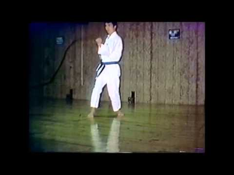 Yasuhiro Chitose performs compilation of Chito-ryu katas during the late 1970s. Image 1