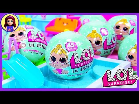 LOL Lil Sister Dolls Wave 2 Surprise Toys Blind Ball Bags Unboxing