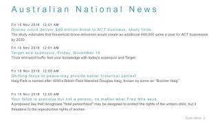 National News Headlines for 16 Nov 2018 - 8 AM Edition