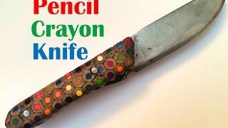 Pencil Crayon Handled Knife