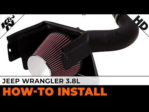 2007. 2008. 2009. 2010 & 2011 Jeep Wrangler 3.8L Air Intake Installation