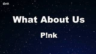 download musica What About Us - Pnk Karaoke 【No Guide Melody】 Instrumental