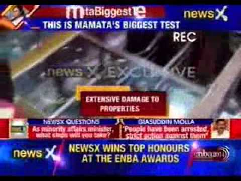 TMC minister spotted by NewsX refuses to put statement on communal riot in West Bengal