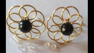 Flower earring (tutorial)