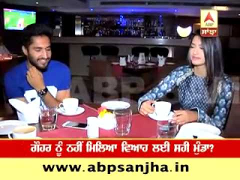 Jassi Gill & Gauhar Khan over a cup of coffee before their film's release