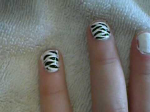 Zebra Stripes Nail Tutorial Video