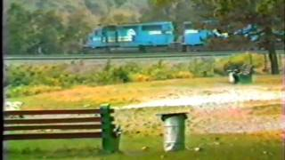 CONRAIL. Monster Test Train on Horse Shoe Curve 1982