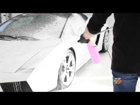 Foam Cannon car wash shampoo demonstration by Auto Obsessed