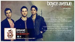Boyce Avenue - Briane (Official Song & Lyrics) on iTunes & Spotify
