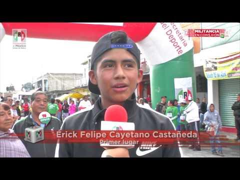 Realiza PRI de Santa Cruz Atizapán carrera Corre, trota, camina