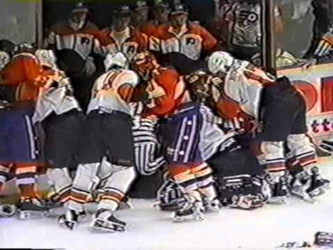 Philadelphia Flyers and Washington Capitals Brawl