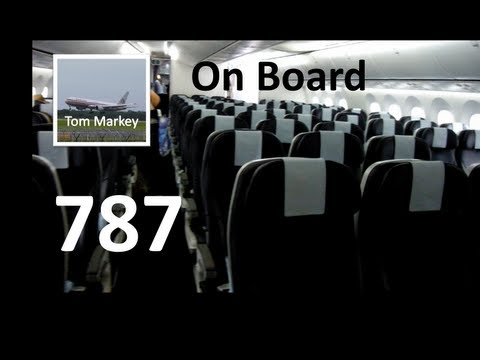 On Board View Of The Thomson 787 Dreamliner
