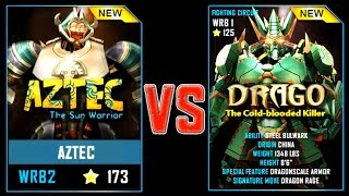 REAL STEEL WRB AZTEC VS DRAGO New Robots UPDATE (Живая сталь)