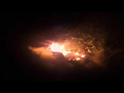 Zapalenie zastavy EU v Nitre / burn EU flag in Slovakia