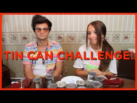 Tin Can Challenge! - Ali & Connor Brustofski
