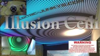 3D Ceiling Infinity LED DIY Stretch Ceiling 3D illusion Roof Typhoon piso ilusión by elektric-junkys