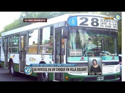Visión 7: 50 heridos en un choque en Villa Soldati