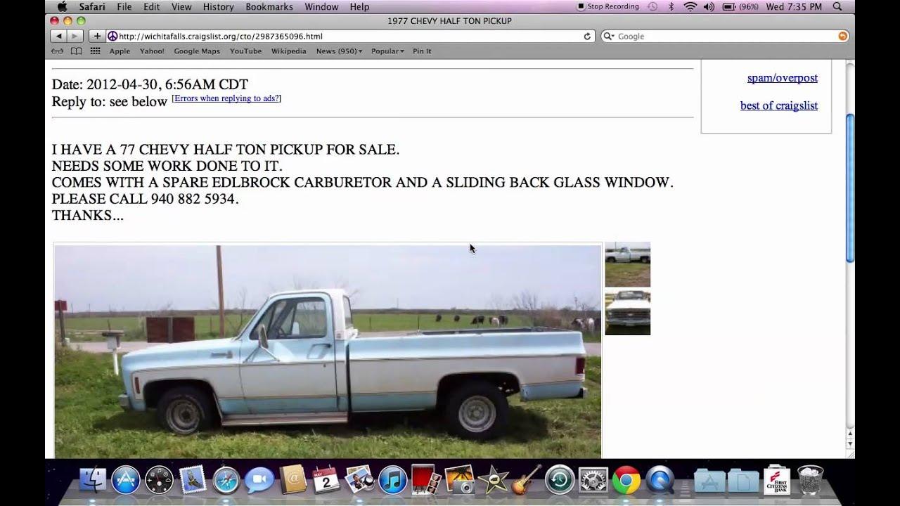 Craigslist Wichita Falls Texas - Used Vehicles Under $800 ...