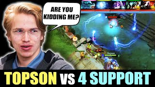 Topson vs 4 Supports? - RAT vs RAT Dota Strats - 60 Minutes+ GAME!