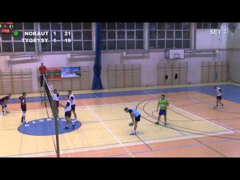 NOKAUT Kłobuck - UKS TYGRYSY Krzepice ... Amatorska Liga Siatkówki W Kłobucku 2013/14