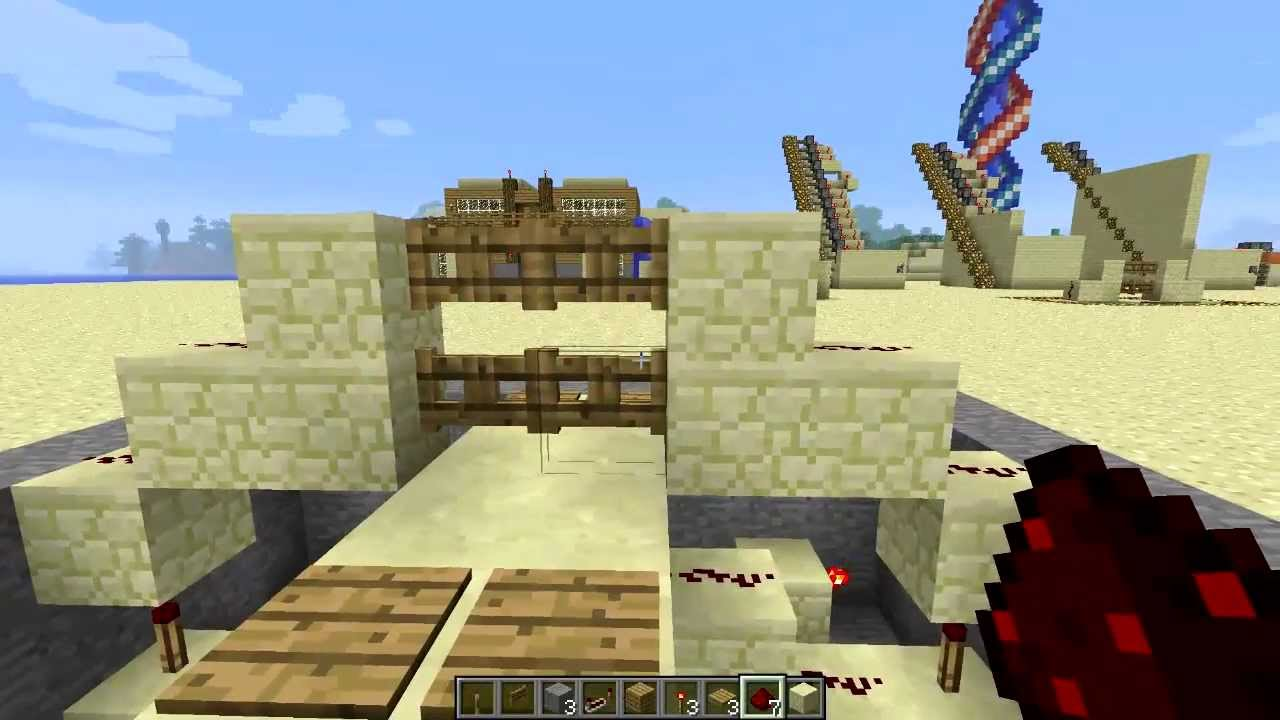 How To Make A Double Fence Gate In Minecraft