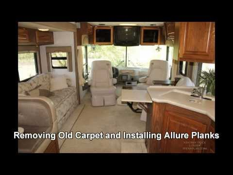 Removing old Motorhome Carpet Replacing with Allure