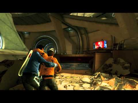 Star Trek The Video Game gameplay footage - New Vulcan Escape