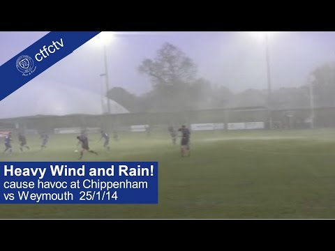 Torrential Rain and Heavy Winds batter CTFC vs Weymouth.