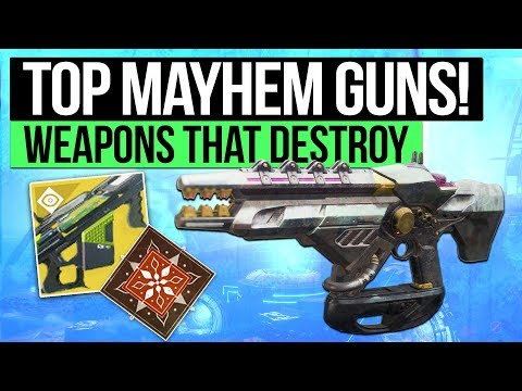 Destiny 2 | TOP 5 MAYHEM WEAPONS! - Best Exotic Weapons for Mayhem PvP! (Curse of Osiris)