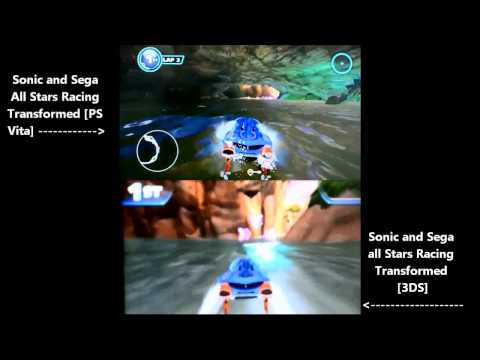 Comparação 3DS vs Vita - Sonic and Sega All-Stars Racing Transformed