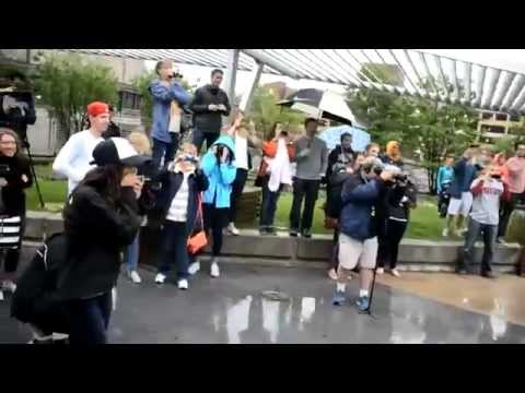 Cutest Flash Mob Proposal Ever: When He Starts To Dance, You'll Cry video