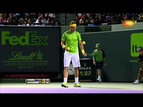 Rafa Nadal vs Kei Nishikori (ATP Masters 1000 Miami 2011)  9/13