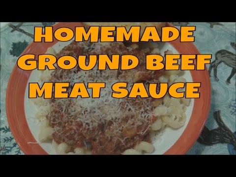 Homemade Ground Beef Pasta Meat Sauce