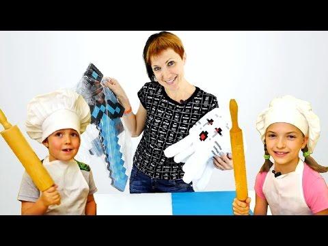 Игрушки Майнкрафт - готовим ужин для Маши
