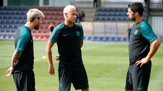 FC Barcelona training session: All set to take on Celtic FC