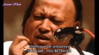 Akhiyaan nu chain na aave Hindi English Subtitles Full Song Nusrat Fateh Ali Khan Sahab