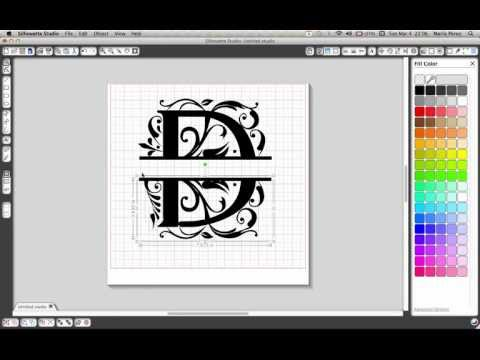 Split letter tutorial for Silhouette Cameo