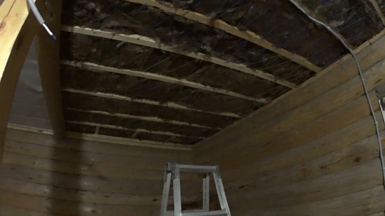 Ремонт бани своими руками потолок