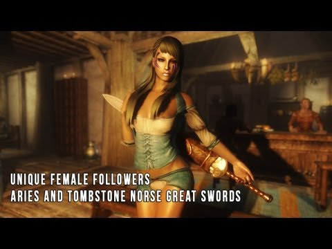 TES V - Skyrim: Unique Female Followers. Aries and Tombstone