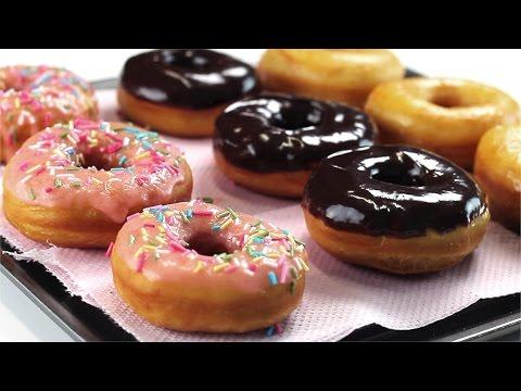 Как приготовить пончики дома - видео