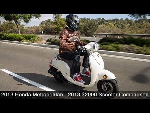 2013 Honda Metropolitan - $2000 Scooter Comparison - MotoUSA