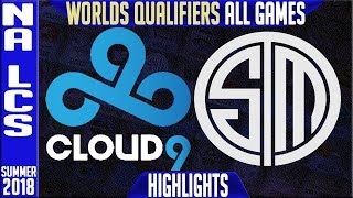 C9 vs TSM Highlights ALL GAMES | NA LCS Worlds Qualifiers Final Summer 2018 | Cloud9 vs Team Solomid