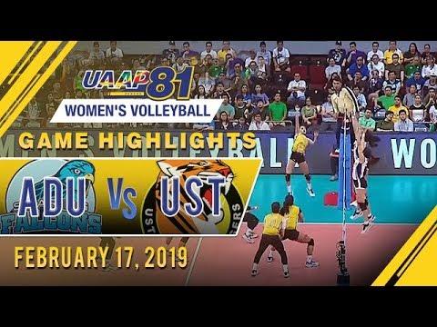 UAAP 81 WV: AdU vs UST  Game Highlights  February 17 2019