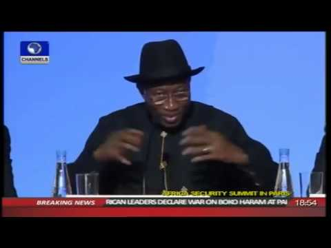Goodluck Jonathan's gaffe in Paris 17/05/14.