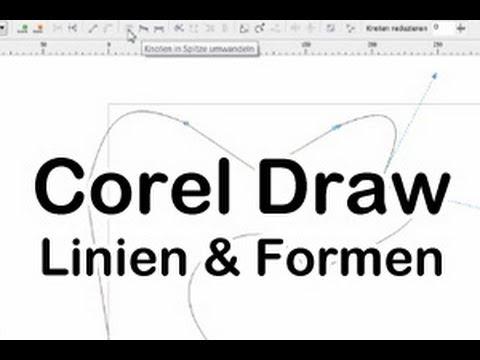 Corel Draw Anleitung Linien und Formen zeichnen deutsch