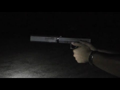 Glock 20 10mm Suppressed during middle of night with Osprey 40